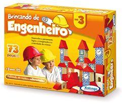 Brincando_de Engenheiro 73 Peças Xalingo