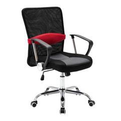 Cadeira_Executiva Giratória Trevalla Office com Base Cromada