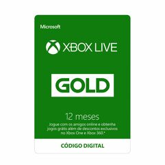 Gift_Cards Xbox Live Gold - 12 meses e Gamepass Ultimate - 3 meses