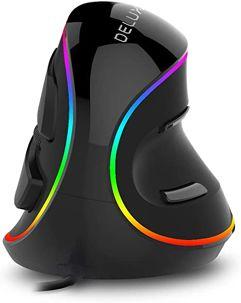 Mouse_Vertical Ergonômico com fio Delux 4000DPI