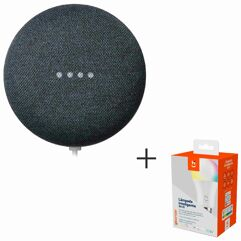 Nest_Mini (2 Ger.): Smart Speaker + Lampada Smart LED RGB+W 2 - HI GEONAV