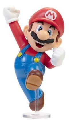 """Boneco_Articulado Jumping Mario, 2.5"""", Super Mario, Candide"""