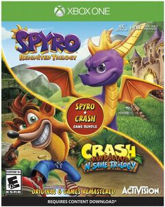 Pacote_de jogo Spyro + Crash Remastered - Xbox One