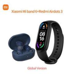 Kit_Fone Redmi AirDots 3 + Smartband Mi band 6 - Versão Global