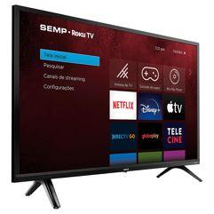 Smart_TV Roku SEMP TCL 32, HD, WideScreen, HDMI, USB, WiFi, Preto - 32R5500